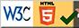 Selo W3C HTML